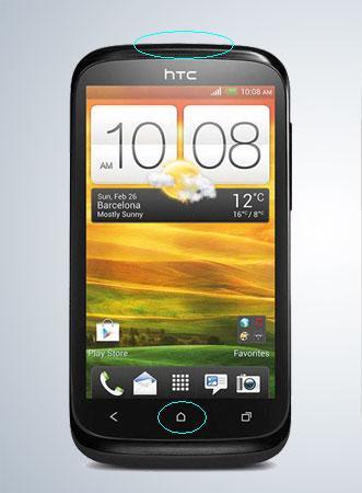 htc-desire-x ekran görüntüsü alma